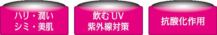 ハリ・潤い・シミ・美肌/飲むUV紫外線対策/抗酸化作用